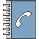 address book, phone book, phone directory, telephone book, telephone directory icon