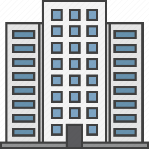 apartments, building, hotel building, housing society, real estate icon
