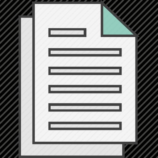 document, file, record, report, statement icon