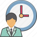 appointment, business schedule, coin, investment time, time icon