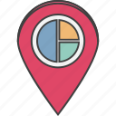 bank location, graph location, graph pin, location pin, map locator, map pin icon