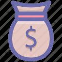 bag, dollar bag, finance, money icon