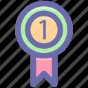 business, finance, medal, money, position, reward icon