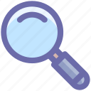 finding, magnifying glass, search, search glass, searching, searching tool, zoom icon