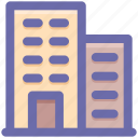 apartment, bank, building, business, hotel, office icon