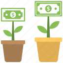 business growth, business plant, business startup growth, financial growth, investment concept icon