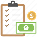 budget plan, business strategic goals, financial management, financial plan, investment plan icon