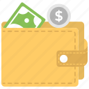 cash wallet, money wallet, personal finance, wallet, wallet full of money icon