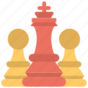 chess pieces, plan, scheme, strategy, tactic icon