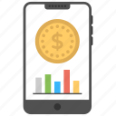 m-commerce, mobile commerce, mobile financial service, mobile payment, mobile phone finance icon