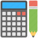 accounting, calculating device, calculator, finance, pocket calculator icon