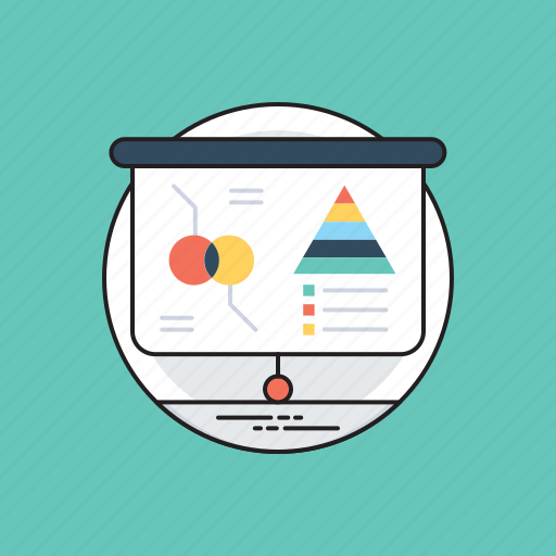 business presentation, business research, data computation, data evaluation, statistical analysis icon