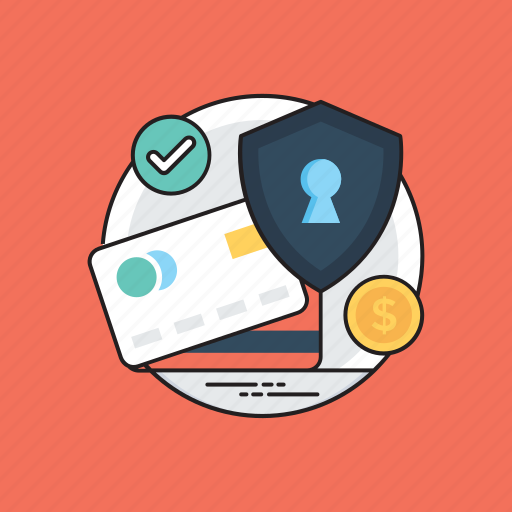 debit card, e-wallets, finance protection, safe payment, secure transaction icon