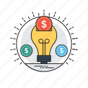cost evaluation, investment and saving, investment plan, money saving, saving idea icon