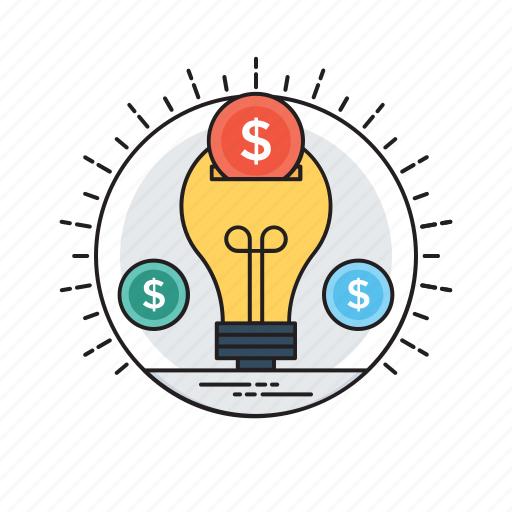 cost evaluation, investment and saving, investment plan, money saving, saving idea icon