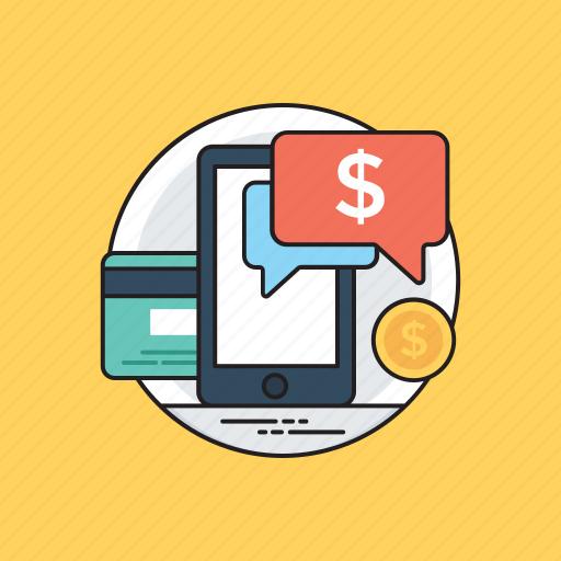 electronic transaction, m commerce, mobile banking, mobile money transfer, online shopping icon