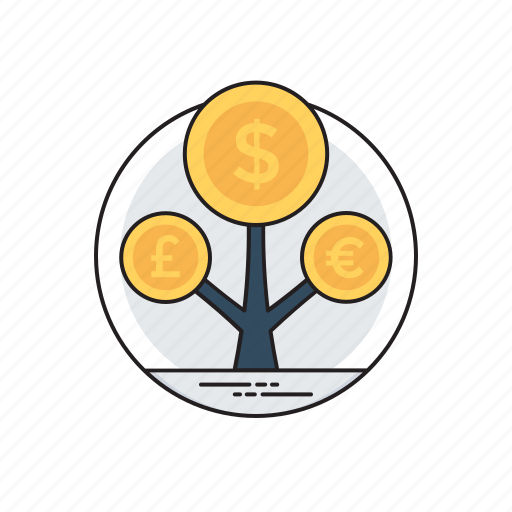 asset management, financial investment, money growth, money making ideas, profit maximization icon