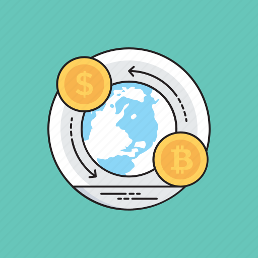 exchange currency, global money, international exchange, international money transfer, internet banking icon
