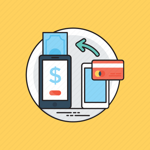 electronic transaction, m- commerce, mobile banking, mobile payment, online shopping icon