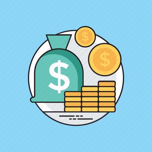budget saving, economy, finance protection, income savings, profit and gain icon