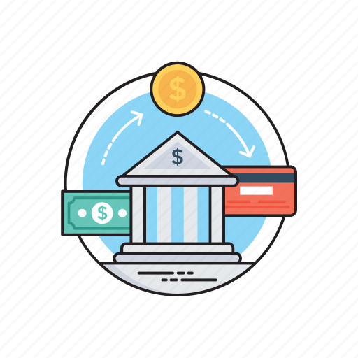 bank transfer, electronic transfer, inter bank communication, transfer of money, wire transaction icon