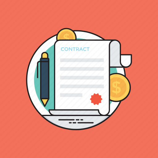 business agreement, confidential document, employment deal, financial contract, financial invoice icon