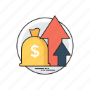 business income, business investment, profit, savings and profit, trade earning icon