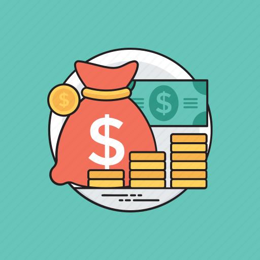 budget saving, economy, finance protection, money savings, profit and gain icon