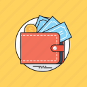 cash payment, cash purse, savings, shopping, wallet icon
