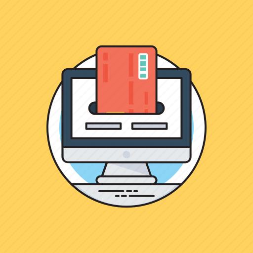 credit card, money deposit, online transaction, paying bills, payment icon