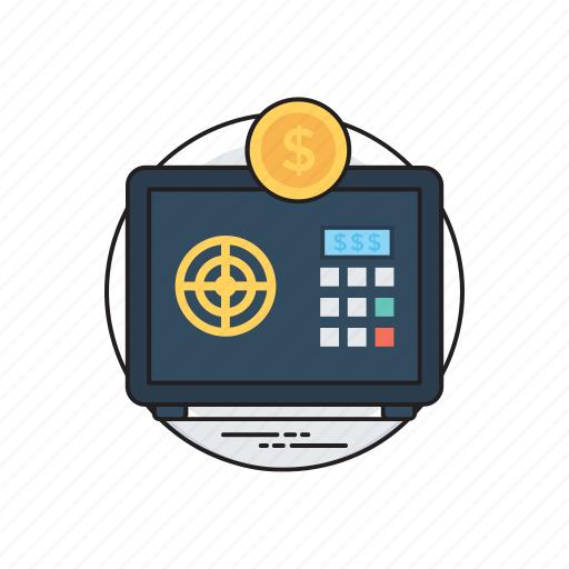 bank locker, closet safe, digital safe locker, safe investment, treasure saving icon