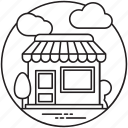 coffee shop, department store, grocery store, local shopping, shop icon