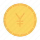 coin, currency, money, yen icon