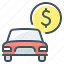 auto, auto finance, car, finance icon