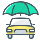 auto, auto insurance, car, insurance, umbrella icon