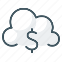 banking, cloud, cloudy, database