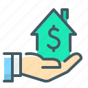 hand, home, home loan, loan icon