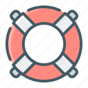 insurance, lifebuoy, support icon