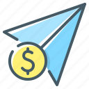 funds, send, send funds, transfer icon