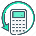 calculator, recalculate, recount icon