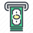 atm, bank, cash, cashout, dollar, money, payment icon