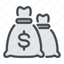 bag, bank, banking, cash, dollar, money, savings icon