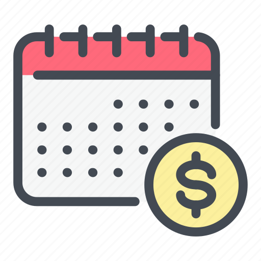 Calendar, coin, dollar, money, pay, payday, salary icon - Download on Iconfinder