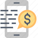 banking, coin, finance, managing, mobile, money, smartphone icon