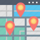 adress, direction, location, map, navigation, office, search icon