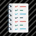 business, checklist, notebook, project, tasklist