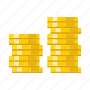 coins, finance, investment, money, saving icon