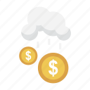 business, cloud, dollar, finance, money icon