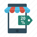 ecommerce, mobile, online, phone, shopping icon
