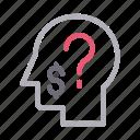 faq, head, help, mind, question icon